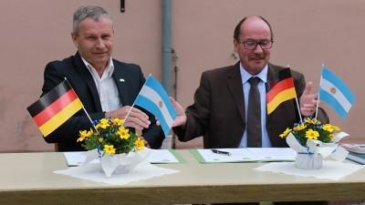 Primer aniversario de la firma de un Convenio de Amistad entre Valle María y la Ciudad de Meinhard