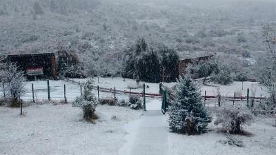 Se produjo la primera nevada del año en Bariloche