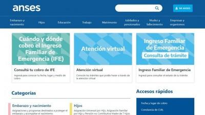 Anses dispone de un aplicativo web para consultar fecha de cobro del IFE
