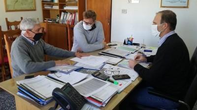 Visita del Director General de Obras Sanitarias de Entre Ríos