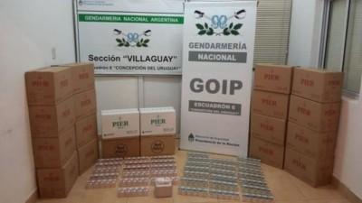 Gendarmería secuestró más de 5 mil paquetes de cigarrillos en Entre Ríos