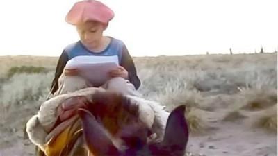 Tiene 7 años y recorre larga distancia a caballo para poder enviar su tarea