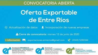 Convocatoria para formar parte de la Oferta Exportable Entrerriana