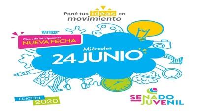 Se extiende hasta el 24 de junio la inscripción al programa del Senado Juvenil Entrerriano
