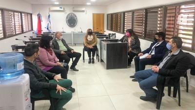 Claudia Gieco se reunió con Casali