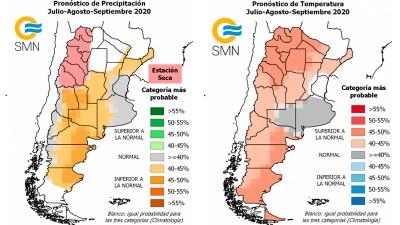 Lluvias y temperaturas: Qué se pronostica para julio, agosto y septiembre