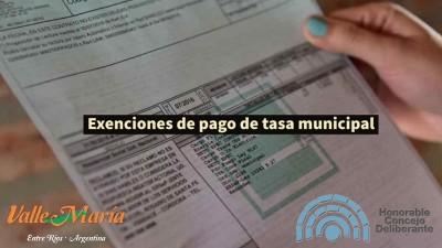 Exención de pago de tasa a quienes aún no han podido desarrollar sus actividades por causa de la pandemia