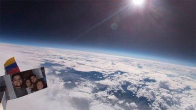 Ató una cámara a un globo de helio y logró imágenes asombrosas