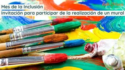 Mes de la Inclusión invitación para participar de la realización de un mural