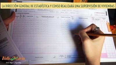 La Dirección General de Estadística y Censo realizará una supervisión de viviendas