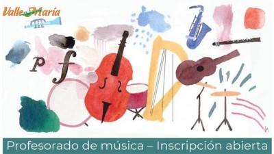Profesorado de música – Inscripción abierta