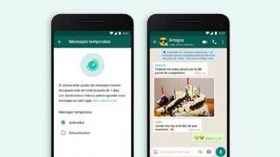 ¿Cómo funcionan los mensajes temporales de WhatsApp?