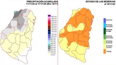 La zona de sequía ya ocupa buena parte del territorio entrerriano