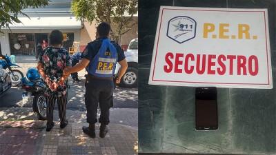 Detuvieron a una mujer por el robo de un celular de una oficina céntrica