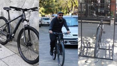 Robaron la bicicleta a un periodista en Paraná y pide ayuda para recuperarla