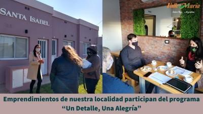 Emprendimientos de nuestra localidad participan del programa Un Detalle, Una Alegría