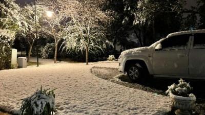 Después de 14 años, volvió a nevar en Córdoba
