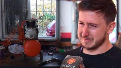 Solidaridad: le desvalijaron el taller y en horas, recibió ayuda de todo el país