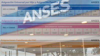 Anses anunció el cronograma de pago de las prestaciones del mes de julio