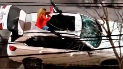 Dueño de la camioneta BMW que mujer destrozó está internado tras sufrir un ACV