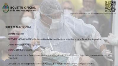 Declaran cinco días de duelo nacional por los 100.000 muertos por coronavirus