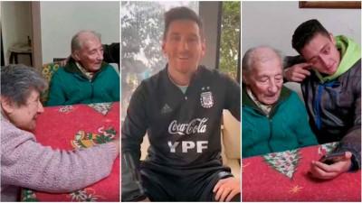 Video: El emotivo saludo de Messi a un abuelo de 100 que anota todos sus goles