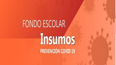 Destinaron recursos a escuelas para adquirir insumos para medidas preventivas contra el Covid