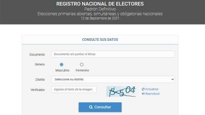 En qué escuela y mesa voto: ya se puede consultar el padrón electoral definitivo