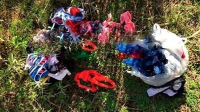 Insólito: entrerriano recorría el campo y encontró bolsas con decenas de tangas