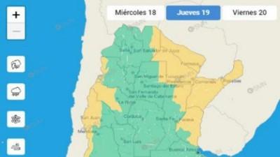 Tras el calor, cambiará el tiempo y alertan por vientos en el Litoral argentino
