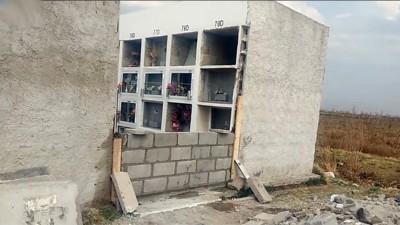 Insólito: Robaron de un cementerio una pared que estaba en construcción