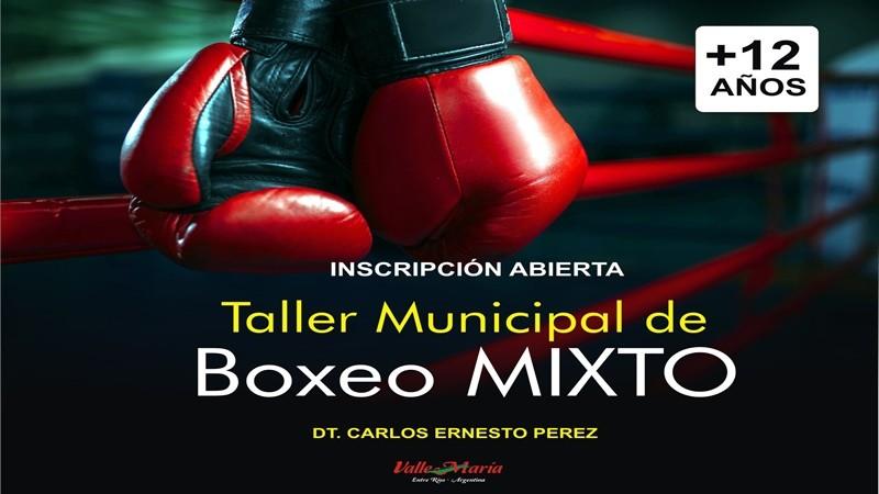 Taller Municipal de Boxeo: se encuentra abierta la inscripción