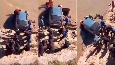 Dejó estacionado su auto sin freno de mano al borde de la ribera y cayó al río